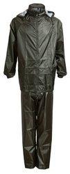 Bagażowy zestaw przeciwdeszczowy kurtka + spodnie rozmiar M oliwkowy