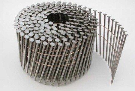Gwoździe bębnowe na drucie 2,1 kąt 16° ryflowane galwanizowane długość 35mm