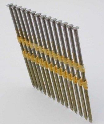 Gwoździe taśmowe łączone plastikiem 21°  3,4/120mm/gładkie/czarne