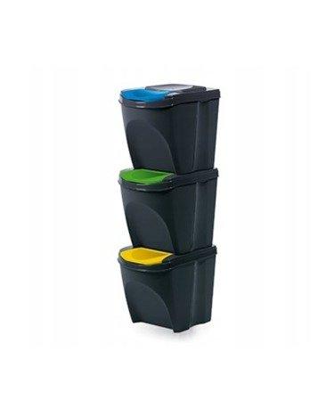Kosz na śmieci 3x25L do segregacji SORTIBOX